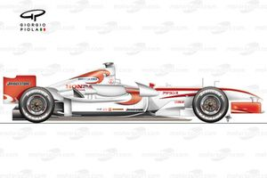 Super Aguri SA05 (Arrows A23) 2006, vista laterale