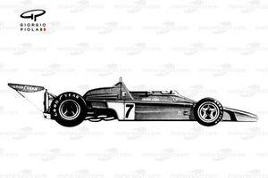Ferrari 312B2 1973 года: вид сбоку