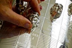 Sculptor Will Behrends has created every winning image on the Borg-Warner Trophy dating back to Arie Luyendyk in 1990, the addition of 2016 Indianapolis 500 winner Alexander Rossi brings Behrends total to 27 images on the legendary trophy