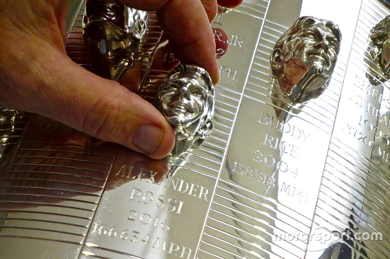 Sculptor Will Behrends has created every winning image on the Borg-Warner Trophy dating back to Arie