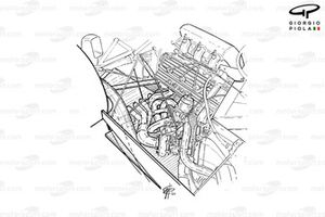 Renault RE40 1983 turbo engine detail