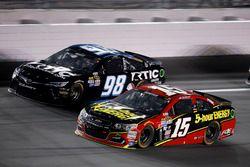 Clint Bowyer, HScott Motorsports Chevrolet and Cole Whitt, Premium Motorsports Toyota