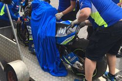Accidente de Maverick Viñales, Team Suzuki MotoGP
