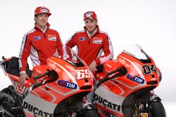 Nicky Hayden, Ducati Team en Andrea Dovizioso, Ducati Team