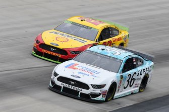 Matt Tifft, Front Row Motorsports, Ford Mustang Delaware Lottery/Surface, Joey Logano, Team Penske, Ford Mustang Shell Pennzoil