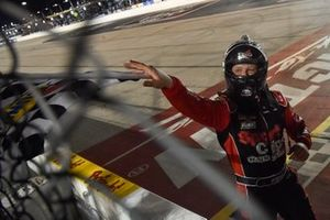 Race winner Erik Jones, Joe Gibbs Racing, Toyota Camry