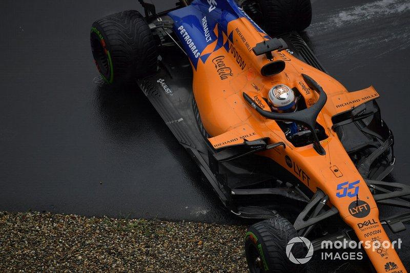 Carlos Sainz Jr., McLaren MCL34, trompea