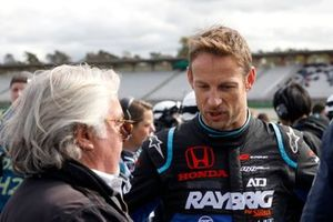 Jenson Button, Team Kunimitsu Honda, mit Keke Rosberg
