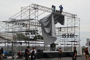 Fórmula 1 se prepara para tufão