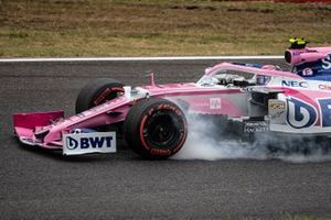 Lance Stroll, Racing Point RP19, locks up