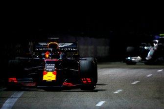 Max Verstappen, Red Bull Racing RB15, leads Valtteri Bottas, Mercedes AMG W10