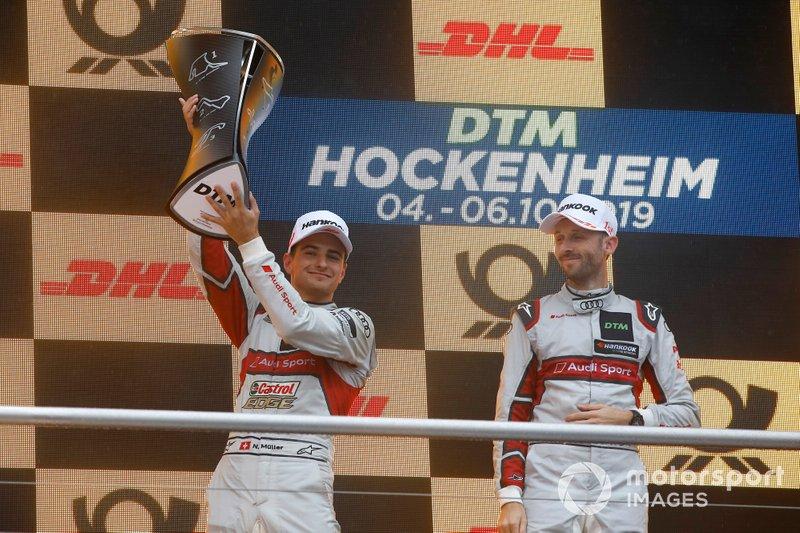 Podium championnat : le deuxième Nico Müller, Audi Sport Team Abt Sportsline