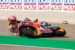 Marc Marquez, Repsol Honda Team crashes