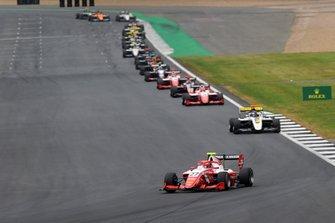 Jehan Daruvala, PREMA Racing leads Christian Lundgaard, ART Grand Prix