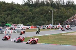 Marc Marquez, Repsol Honda Team leads at the start of the race