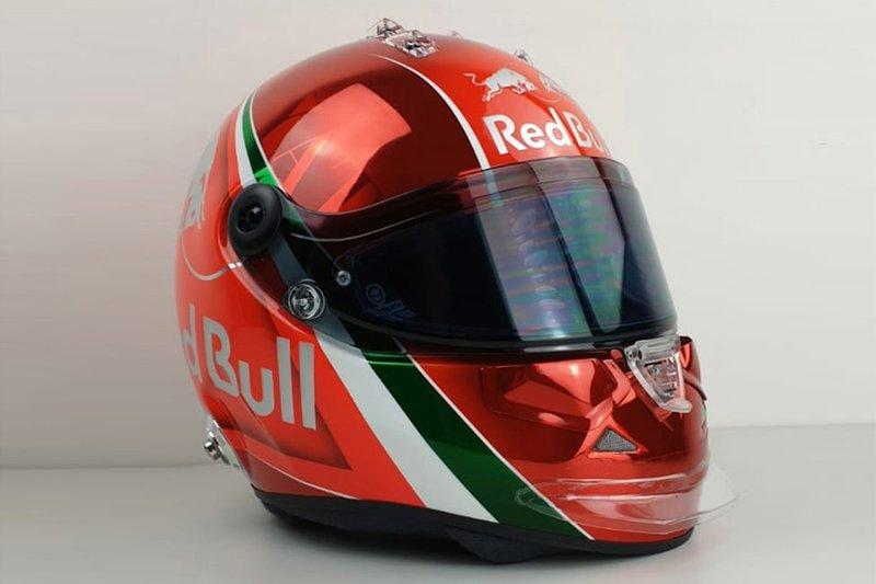 Daniil Kvyat'ın İtalya GP özel kaskı
