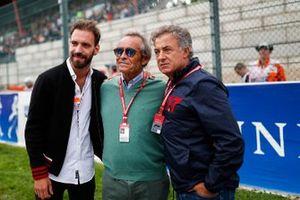Jean-Eric Vergne met Jacky Ickx en Jean Alesi