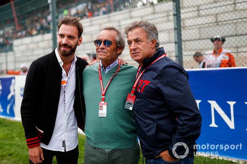 Jean-Eric Vergne with racing legends Jacky Ickx and Jean Alesi