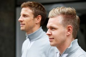 Kevin Magnussen, McLaren, and Jenson Button, McLare