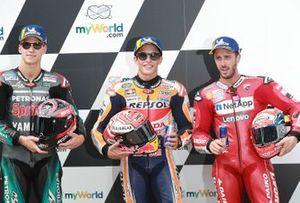 Polesitter Marc Marquez, 2. Fabio Quartararo, 3. Andrea Dovizioso