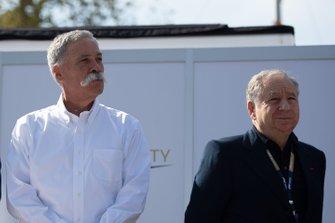 Chase Carey, Presidente, Fórmula 1, y Jean Todt, Presidente, FIA