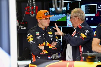 Max Verstappen, Red Bull Racing, and Helmut Marko, Consultant, Red Bull Racing