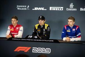Marcus Armstrong, PREMA Racing Christian Lundgaard, ART Grand Prix and Robert Shwartzman, PREMA Racing