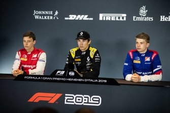 Marcus Armstrong, PREMA Racing Christian Lundgaard, ART Grand Prix and Robert Shwartzman, PREMA Racing