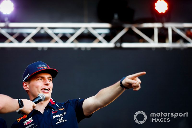 Max Verstappen, Red Bull Racing on stage in the Fan Zone