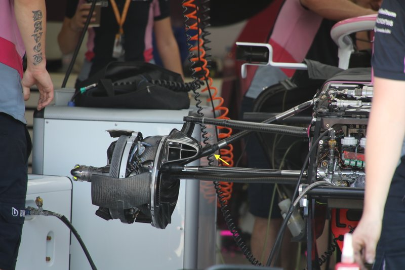 Racing Point RP19, front suspension