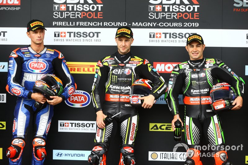 Michael van der Mark, Pata Yamaha, Jonathan Rea, Kawasaki Racing Team, Leon Haslam, Kawasaki Racing Team