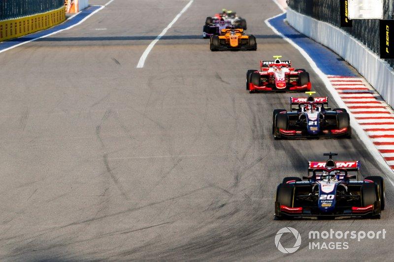 Giuliano Alesi, Trident, Ralph Boschung, Trident and Sean Gelael, Prema Racing