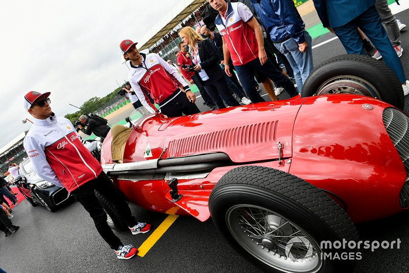 Kimi Raikkonen, Alfa Romeo Racing, essayant une Alfa Romeo 159