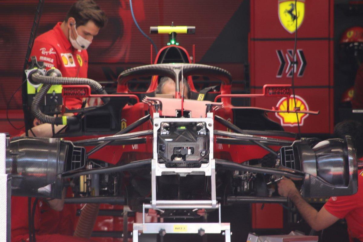 Детали передней части Ferrari SF21