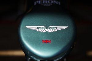 Aston Martin logo on the nose