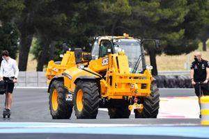 JCB Telehandler, track recovery vehicle