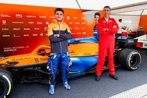 Lando Norris with the Red Arrows