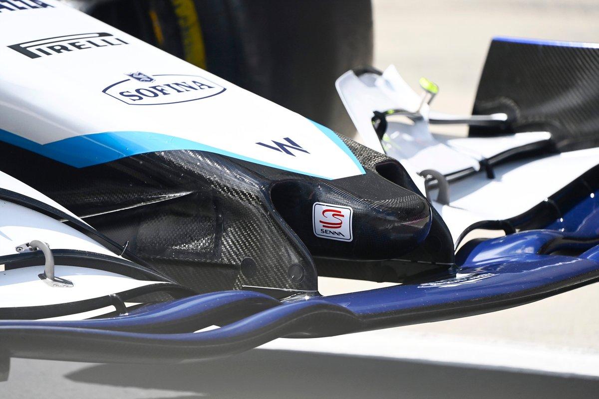 Detalle del frente del Williams FW43B