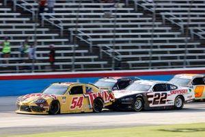 Kyle Busch, Joe Gibbs Racing, Toyota Supra Twix, Austin Cindric, Team Penske, Ford Mustang Odyssey Battery