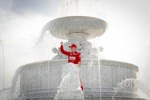 Marcus Ericsson, Chip Ganassi Racing Honda, Winner, Fountain
