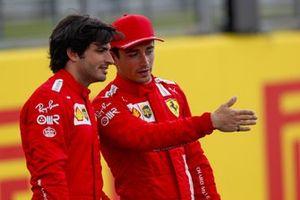 Carlos Sainz Jr., Ferrari and Charles Leclerc, Ferrari