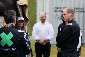 Alejandro Agag, CEO, Extreme E, Catie Munnings, Andretti United Extreme E, Adam Bond, CEO, AFC Energy e Sua Altezza Reale il Principe William, Duca di Cambridge