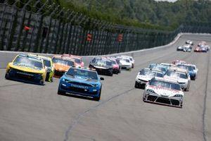 Justin Allgaier, JR Motorsports, Chevrolet Camaro Hellmann's 100% Recycled, Harrison Burton, Joe Gibbs Racing, Toyota Supra DEX Imaging