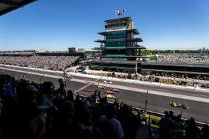Simon Pagenaud, Team Penske Chevrolet, Colton Herta, Andretti Autosport Honda, Jack Harvey, Meyer Shank Racing Honda