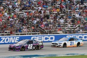 Alex Bowman, Hendrick Motorsports, Chevrolet Camaro, Matt DiBenedetto, Wood Brothers Racing, Ford Mustang Quick Lane Tire & Auto Center