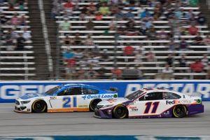 Matt DiBenedetto, Wood Brothers Racing, Ford Mustang Quick Lane Tire & Auto Center, Denny Hamlin, Joe Gibbs Racing, Toyota Camry FedEx Office