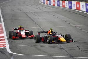 Juri Vips, Hitech Grand Prix and Oscar Piastri, Prema Racing