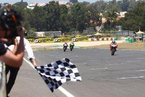 1. Scott Redding, Aruba.It Racing - Ducati, 2. Toprak Razgatlioglu, PATA Yamaha WorldSBK Team, 3. Jonathan Rea, Kawasaki Racing Team WorldSBK