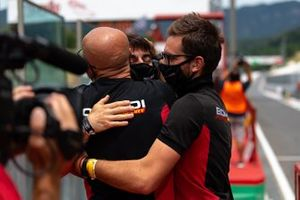 Marzio Moretti, Bonaldi Motorsport, festeggia con il team