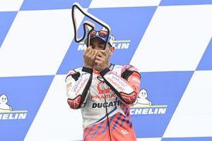 Podium: racewinnaar Jorge Martin, Pramac Racing